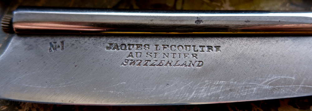 LeCoultre blade stamp. Le Sentier is also called Vallée de Joux. In the Lake Geneva district, it's the center of Swiss watchmaking.